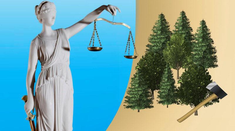 рубить лес