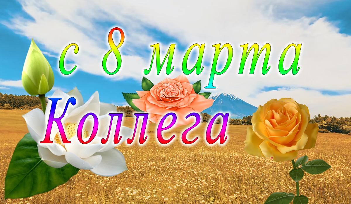 с 8 марта;коллеги;поздравление;apipa.ru