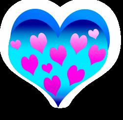 сердечко png, apipa.ru, сине роз