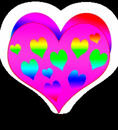 сердечко png, apipa.ru, розово радуга