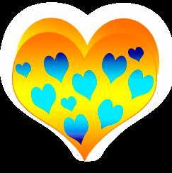 сердечко png, apipa.ru, желтый
