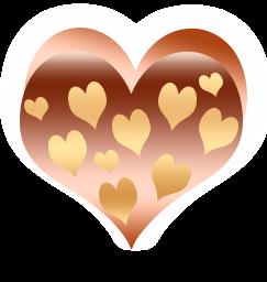 сердечко png, apipa.ru, золотое