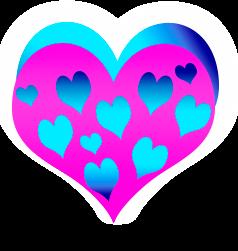сердечко png, apipa.ru, розовое синее