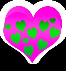 сердечко png, apipa.ru, розовое зеленое