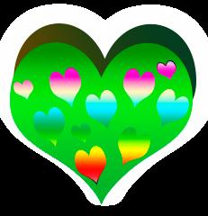 сердечко png, apipa.ru, красивое зеленое