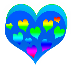 сердечко png, apipa.ru, голубое и