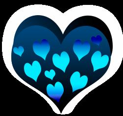 сердечко png, apipa.ru, голубое