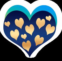 сердечко png, apipa.ru, синее