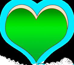 сердечко png, apipa.ru, зеленое