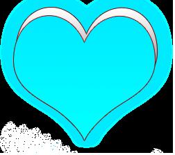 сердечко png, apipa.ru, голубой