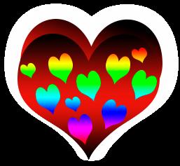 сердечко png, apipa.ru, красно радуга