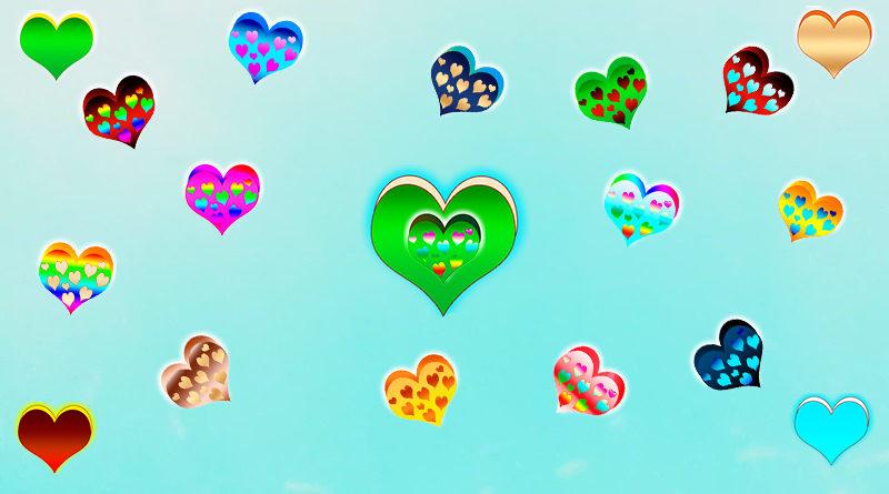 png сердечки, разные, большого размера